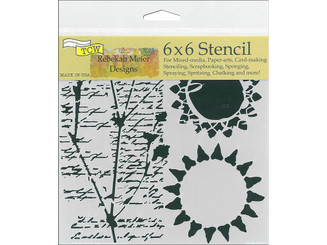 CRAFTER S WORKSHOP THE TCW768S THE CRAFTERS WORKSHOP STENCIL 6X6 JOURNAL MUSINGS
