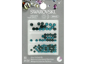 COUSIN CORPORATION OF AMERICA 47645529 COUSIN SWAROVSKI FLATBACK MIX EMRD BL ZIRCON 80PC