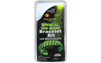 PEPPERELL BRAIDING CO  PCKITGLOW01 PEPPERELL PARACHUTE CORD BRACELET KIT GLOWDARK
