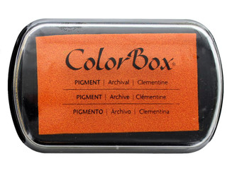 15235 COLORBOX PIGMENT INK PAD FULL SZ CLEMENTINE