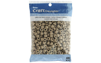 06121-5-019 DARICE PONY BEAD 9MM OPQ TAN 480PC