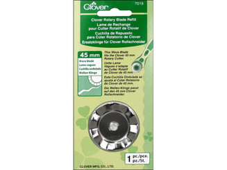 7519 CLOVER ROTARY CUTTER BLADE REFILL 45MM WAVE 1PC