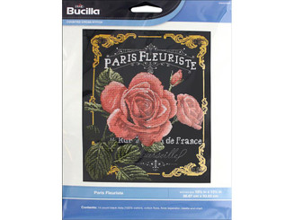 WM46469E BUCILLA XSTITCH KIT PARIS FLEURISTE