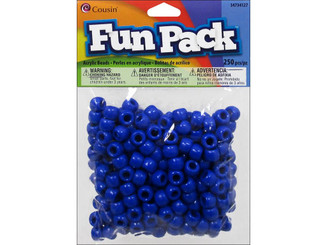 COUSIN CORPORATION OF AMERICA 34734127 COUSIN FUN PACK BEAD PONY BLUE 250PC