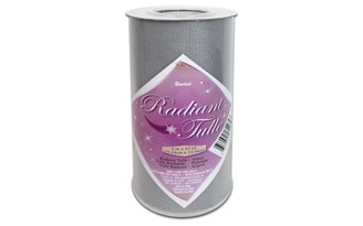2913-25 DARICE RADIANT TULLE 6 25YD SILVER