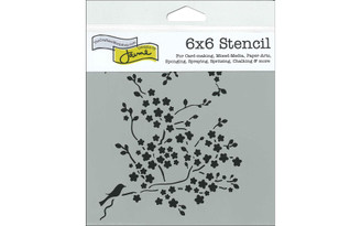 CRAFTER S WORKSHOP THE TCW177S THE CRAFTERS WORKSHOP STENCIL 6X6 CHERRY BLOSSOMS