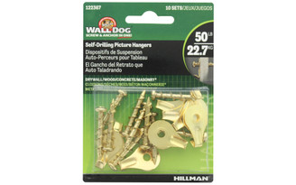 122367 HILLMAN WALL DOG PICTURE HANGER SELF DRILL 50 10PC