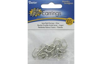 1999-580 DARICE EARRING LEVER BACK SILVER 20PC