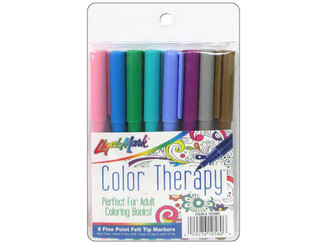 10580 LIQUIMARK MARKER COLOR THERAPY FINE PT FASHION 8PC