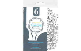 48232 LEISURE ARTS COLORING CARDS ENVELOPES BIRTHDAY