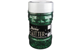 1146-45 DARICE GLITTER JAR 4OZ GREEN