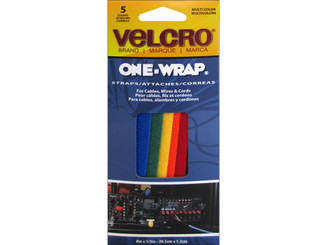 90438 VELCRO ONE WRAP TIE 8X 5 ASTD 5PC