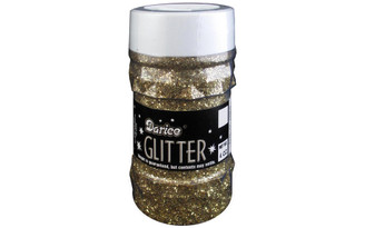 1146-43 DARICE GLITTER JAR 4OZ GOLD