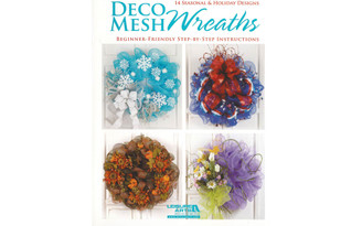 5834 LEISURE ARTS DECO MESH WREATHS BK