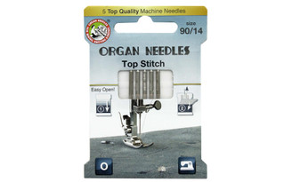 3000125 ORGAN NEEDLES MACH NEEDLE TOP STITCH SZ90 14 5PC