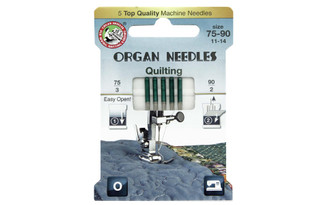 3000123 ORGAN NEEDLES MACH NEEDLE QUILTING SZ75-90 5PC