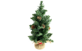 30080088 DARICE CHRISTMAS TREE 15 WITH PINECONES