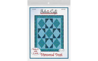 091920 FABRIC CAFE DIAMOND DUST 3 YARD QUILT PTRN
