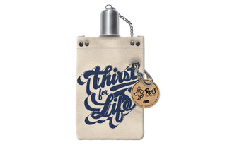 38339 MOLLY REX CANVAS FLASK 8OZ THIRST FOR LIFE