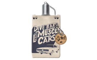 38337 MOLLY REX CANVAS FLASK 8OZ DIVE BARS MUSCLE CARS