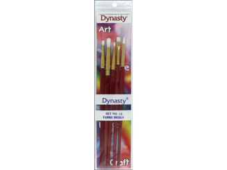 27618 DYNASTY BRUSH SET 12 CRAFT ASTD FABRIC DESIGN