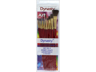 27615 DYNASTY BRUSH SET 9 CRAFT ASTD HOBBY CRAFT