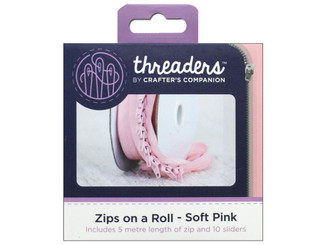 CRAFTER S COMPANION TH-1043 CC THREADERS ZIPS ON A ROLL SOFT PINK