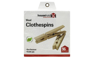 4701 HOUSEHOLD ESSENTIALS CLOTHESPINS BIRCH 96PC