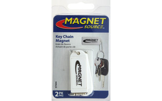 07604 THE MAGNET SOURCE MAGNET KEY CHAIN WHITE 2PC