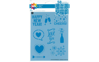 04837 DELTA STENCIL 6X7 75 HOLIDAYS 6PC