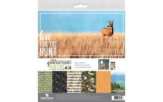 KTSP-1063E PAPER HOUSE PAPER CRAFT KIT 12X12 OUTDOORS HUNTING