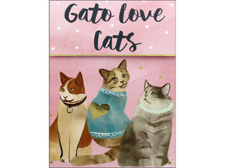 MOLLY  REX 38664 MOLLY REX CATS DOGS POCKET NOTE PAD LOVE CATS