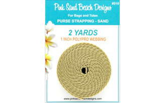 510 PINK SAND BEACH PURSE STRAPPING 1 X 2YD SAND