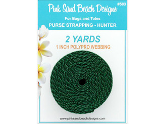 503 PINK SAND BEACH PURSE STRAPPING 1 X 2YD HUNTER