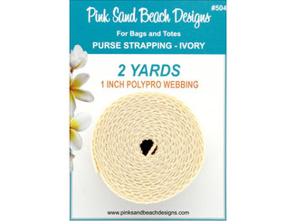 504 PINK SAND BEACH PURSE STRAPPING 1 X 2YD IVORY