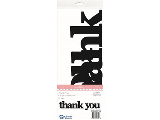 ADPSHAPE 219 CHIP WORD WEDDING THANK YOU BLACK 1SET