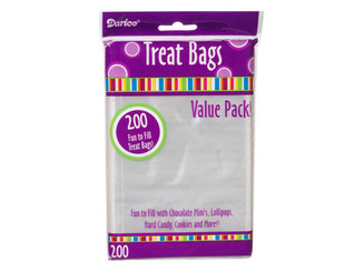 28-002V DARICE CLEAR TREAT BAG 3 75X6 200PC