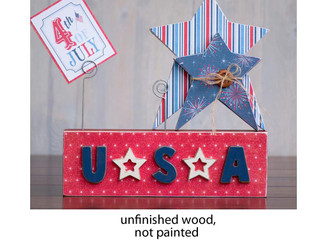 02096-5 FOUNDATIONS DECOR WOOD BLOCK WIRE STAR USA