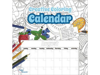 PAPER ACCENTS ADPCOLOR 6 CREATIVE COLORING MONTHLY CALENDAR 12X12 28PG ADPCOLOR.6