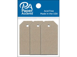 ADPCTAG-TINY 304 CRAFT TAGS 0 875X1 75 25PC RECYCLED KRAFT