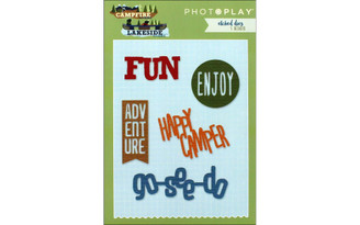 PHOTOPLAY PAPER CL2526 PHOTO PLAY CAMP LAKE COMBO ETCHED DIE WORDS