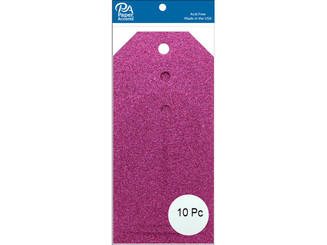 ADPCTAG-AST G03 CRAFT TAGS ASTD SIZE 10PC GLITTER ROSE