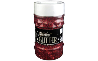 1146-44 DARICE GLITTER JAR 4OZ RED