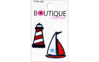 001300213 BLUMENTHAL BOUTIQUE APPLIQUE LIGHTHOUSE BOAT 2PC