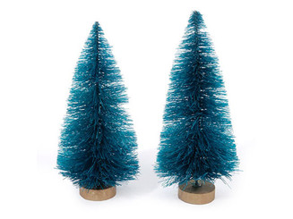 16462 DARICE HOLIDAY SISAL CHRISTMAS TREE 3 W FROST 2PC