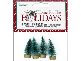 16460 DARICE HOLIDAY SISAL CHRISTMAS TREE 1 5 FROST 4PC