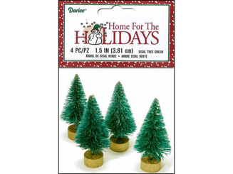 16459 DARICE HOLIDAY SISAL CHRISTMAS TREE 1 5 GREEN 4PC