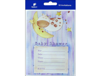 82052 GALLANT GREETINGS BABY SHOWER INVITATION 10CT 2