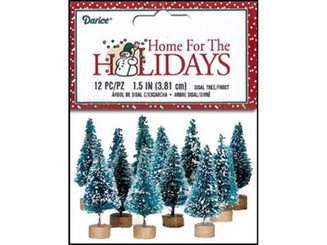 16480 DARICE HOLIDAY SISAL CHRISTMAS TREE 1 5 FROST12PC
