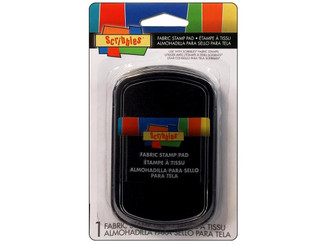 29895 SCRIBBLES FABRIC STAMP PAD BLACK